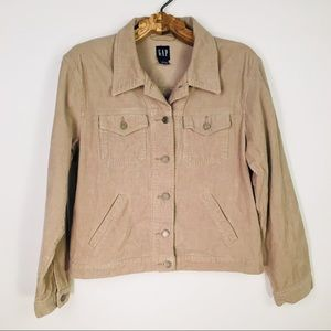 Gap Camel Tan Corduroy jacket button front Large